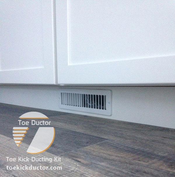"Kitchen Island No Toe Kick: The Official ""Toe Ductor"" Under Cabinet Toe Kick Ducting Kits"