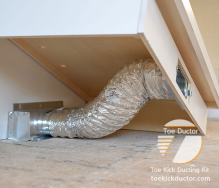 Toe Ductor Baseboard Vent To Cabinet Toekick Ducting Kit