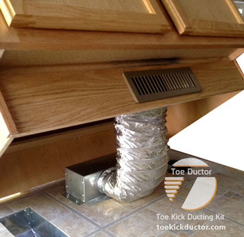 How to install heat vent under a cabinet